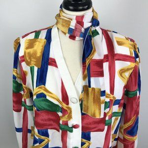 Vintage Graphic 90s Shirt Pullover Womens Size 8